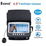 "Eyoyo 15M 4.3"" LCD Ice/Sea Fish Finder 1000TVL Underwater fishing Camera With Sun-visor"
