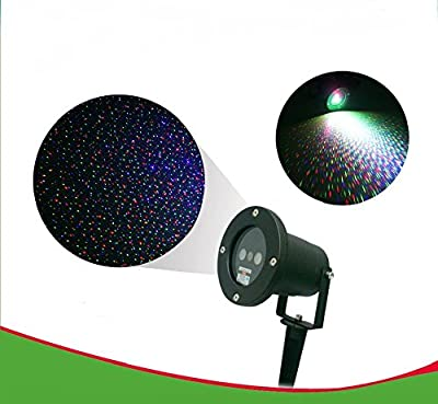 JoBox- Christmas Starry Light Landscape Lighting Projector with remote control. Adjustable speeds and colors. Red, Blue, Green, Combo. Aluminum Construction.Great for outdoors parties