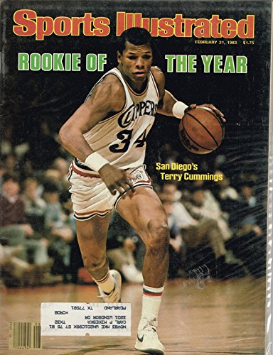 Sport Illustrated Rookie Of The Year San Diego's Terry Cummings February 21 1983 Magazine