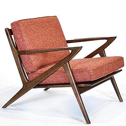 Remarkable Amazon Com Zach Chair Iconic Mid Century Modern Design Ibusinesslaw Wood Chair Design Ideas Ibusinesslaworg