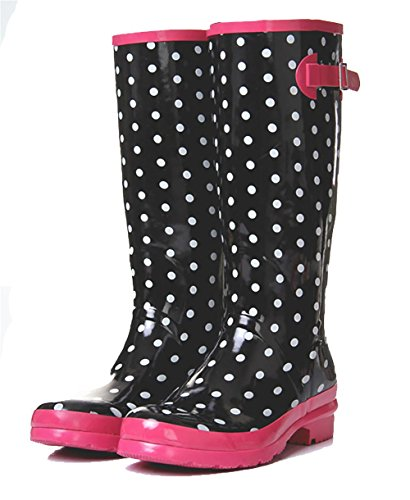 Gaotong 's Dot Puddles SONGYUNYAN Women Boot Rain figure Natural Rubber atwn7Ex