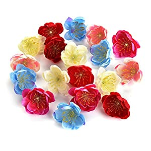 Flower heads in bulk wholesale for Crafts Mini Silk Cherry Blossoms Daisy Artificial Rose Fake Flowers Poppy Wedding Decoration DIY Wreath Accessories Party Birthday Home Decor 80pcs 3cm 69