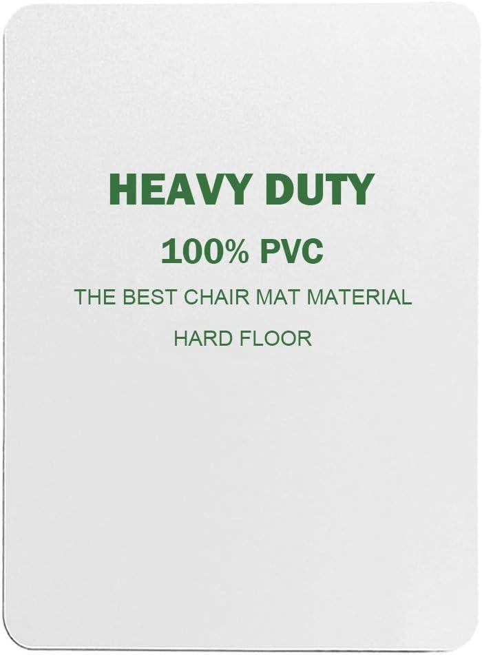 HGmart Hard Floor Chair Mat 48 x 36 Anti-Slip Office Floor Protector,Rectangle Transparent Mat for Desk Chair 1 Pack