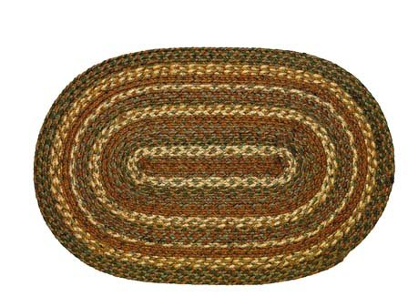 IHF Home Decor Boulder Oval Braided Rugs - 4'x6' (Outdoor Furniture Boulder)