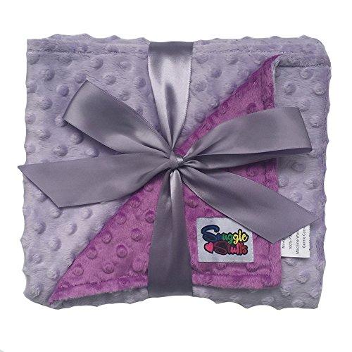Violet Dot (Reversible Baby Blanket Minky Dot (Lavender/Violet))