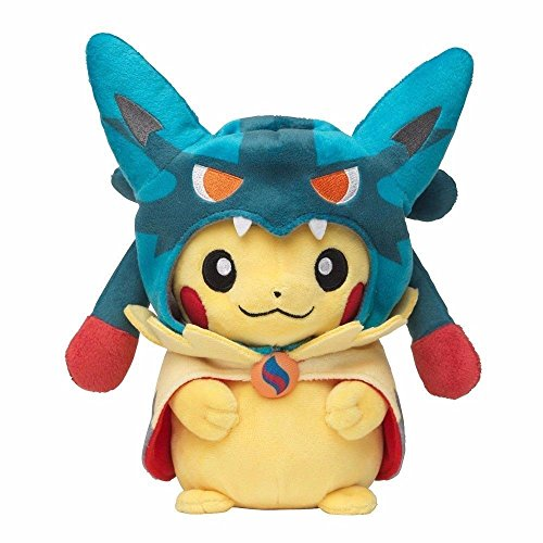 Pokemon Mega Lucario Pikachu 8  Stuffed Animal Nintendo Cuddly Plush Soft Toy