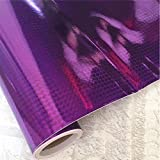 yazi Wraping Paper Gloss Glitter Peel and Stick Film Wallpaper Décor Vinyl Kitchen Cupboard Cover Wall Contact Paper Roll, 17.7 inches by 16.4ft,Purple