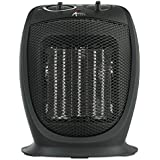 Alera Ceramic Heater, 7 1/8W x 5 7/8D x 8 3/4H, Black