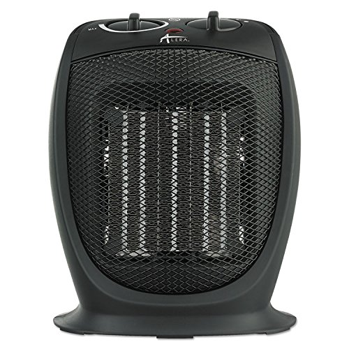 Alera HECH09 Ceramic Heater, 7 1/8''w X 5 7/8''d X 8 3/4''h, Black by Alera