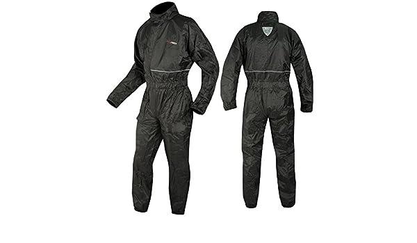A-pro – Traje de lluvia para moto, mono impermeable, negro ...