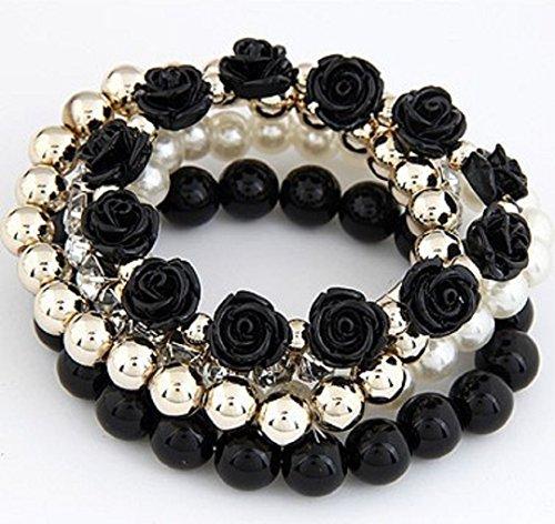Bohemian Crystal Pearls Flowers Bracelets