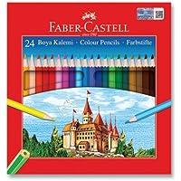 Faber-Castell 5171116324 Karton Kutu Boya Kalemi, 24 Renk