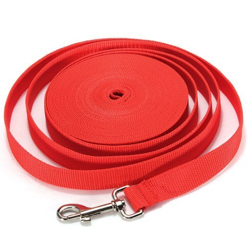 - Extra Long Pet Dog Training Leash - 30Ft/40FT/50FT/66FT Dog Obedience Recall Leash Basic Lead Backyard Play Pull Back Rope for Medium and Large Dogs Heavy Duty Nylon Leash (30Ft/9M, Red)