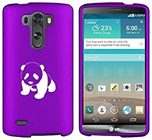 LG G4 Snap On 2 Piece Rubber Hard Case Cover Baby Panda (Purple)