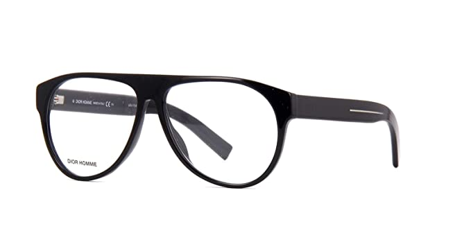 2292205ea07 Image Unavailable. Image not available for. Colour  New Christian Dior  Homme Blacktie 256 807 Black Eyeglasses