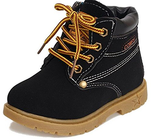 DADAWEN Baby's Boy's Girl's Classic Lace Up Waterproof Outdoor Winter Boots