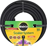 irrigation hose - Miracle-Gro MGSPA38050CC Premium Soaker Hose 50 ft with Push on Fittings, 3/8 diameter, Black