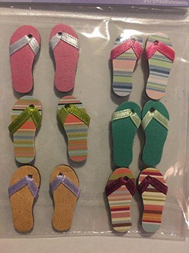 Craft Essentials Hawaii Flip Flops Embellishment
