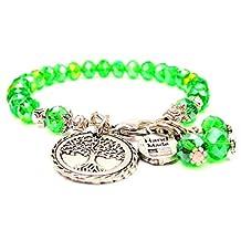 Tree Of Life Splash of Color Bracelet in Peridot Green