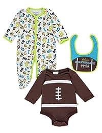 "Duck Duck Goose Baby Boys' ""Future Quarterback"" 3-Piece Layette Set"