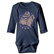 DELPT Georgetown University Hoyas Bulldog Cute Boy & Girl Infants Climb Clothes 6 M Navy