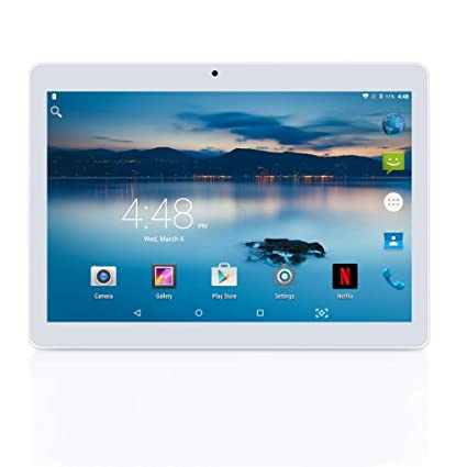 Tableta Android 8.1 10 Pulgadas con 2GB de Memoria ROM de 32 GB incorporada Cámara WiFi GPS Dos Ranuras para Tarjetas SIM para desbloquear la Tableta ...