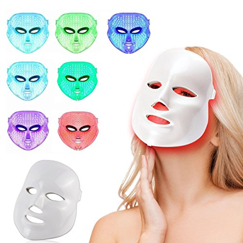 Amazon.com: Light Therapy Mask 7 Colors Led Photon Face Mask ...