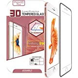 BIOSHIELD 9H 3D Full Cover Tempered Glass Screen Protector for iPhone 6S & iPhone 6S Plus with Full Coverage, Edge to Edge Protection, Anti Shock (iPhone 6S Plus_Black)