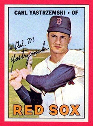 Cards Baseball Carl Yastrzemski - Carl Yastrzemski 1967 Topps Baseball Reprint Card (Red Sox)