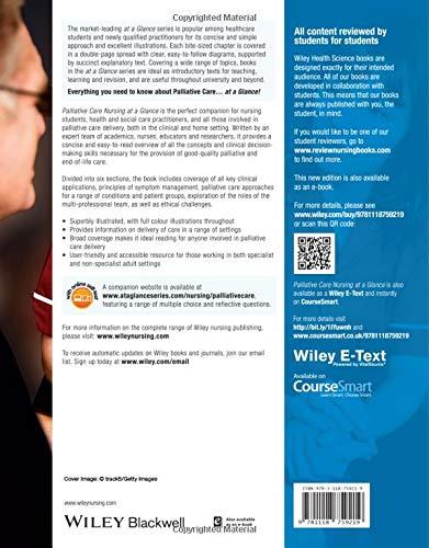 Palliative Care Nursing at a Glance At a Glance Nursing and