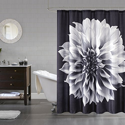 Comfort Spaces Nora - Water Repellent Bath Shower Curtain -