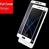 Kavacha (TM) Honor 6x Edge to Edge Full Front Body Cover Tempered Full Glass Screen Protector Guard for Huawei Honor 6X - White