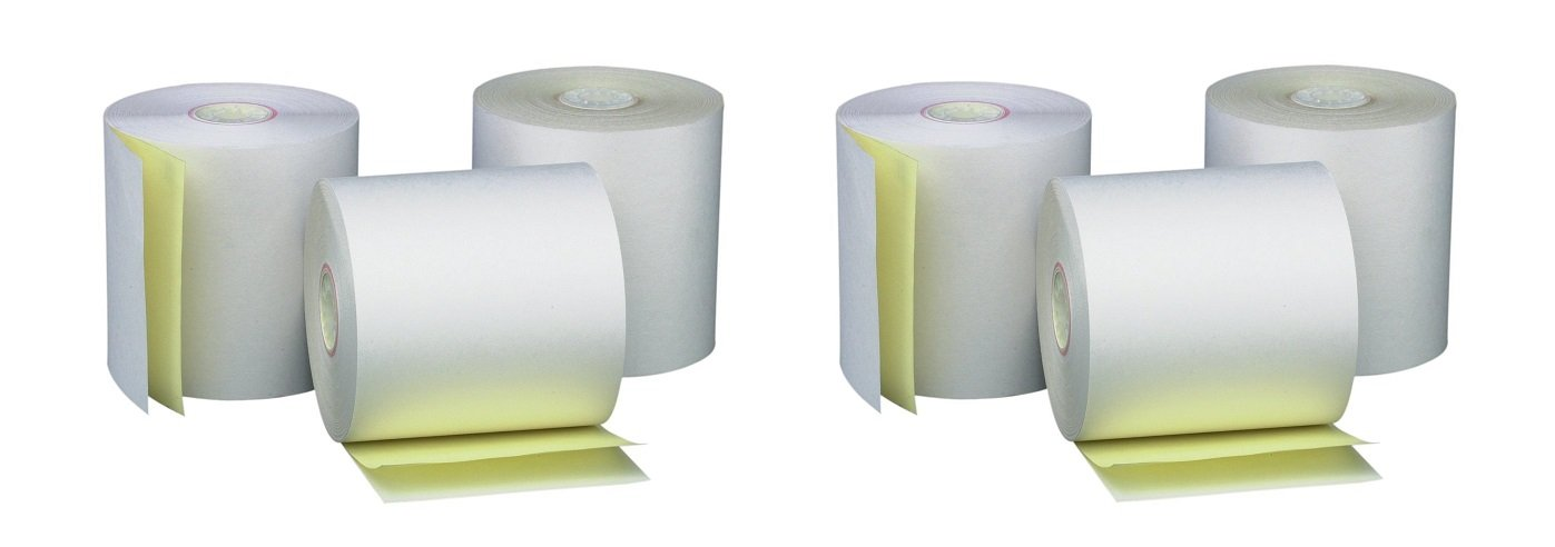 PM Company Perfection Two Ply Carbonless Rolls, 3 X 95 Feet, White/Canary, 50 Rolls Per Carton (07901) (2 X 50 Pack)