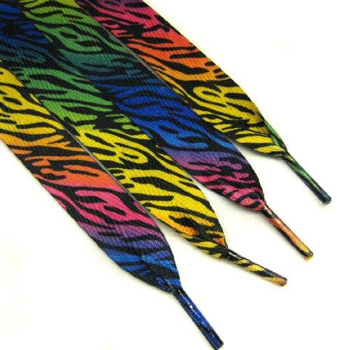 CLOVER Colorful Zebra Fashion Shoelace