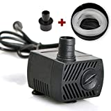 12V Mini direct current submersible pump miniature fish tank water exchanger for small fountain pumpVicTsing 80 GPH(600L / H,10W)Submersible pumps for ponds, aquariums, fish tank fountain pumps with 4.9 ft (1.45 m) power cord