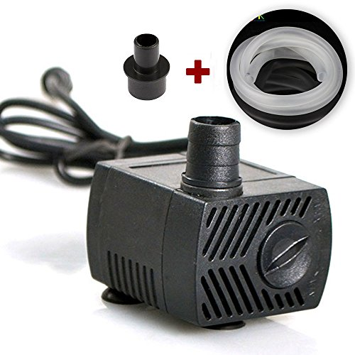160 GPH (600L / H, 10W)   submersible pump, ultra-quiet pond, ornamental fish, pets, turtles, aquarium, aquarium, aquarium fountain, statue, rockery, mobile crafts, desktop fountain, powerful water pu