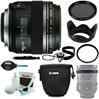 Canon EF-S 60MM F/2.8 Macro USM Lens with Deluxe Accessory Kit