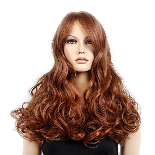 Stfantasy Wigs for Women Long Curly Heat Resistant Synthetic Hair 24