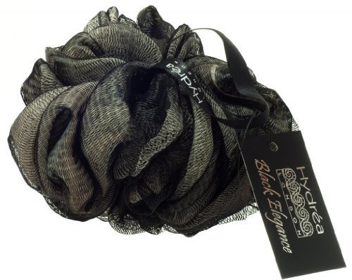 Wrist Wrap Natural - Exfoliating Black and Cream Scrunchie with Wrist Wrap by Hydrea
