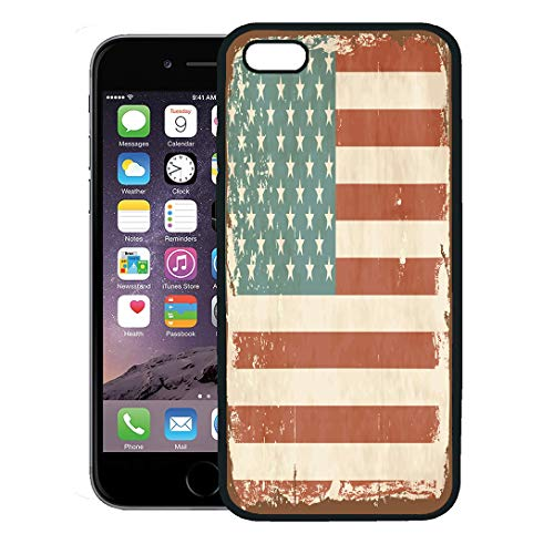 - Semtomn Phone Case for iPhone 8 Plus case,Blue Americana Vintage American Flag Tin Sign Brown 1950S 1960S USA iPhone 7 Plus case Cover,Black