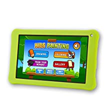 "AOSON 7 Inch Kids Tablet 16GB Android 6.0 Quad Core KIDOZ Pre installed with Parental Control-iWawa Wifi Bluetooth Dual Camera 2.0 HD Video 3D Game M753-S1 7"" Tablets PC (Green)"