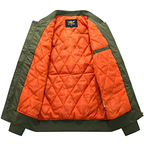 Bomber Army Military Air Force Jackets Coats Oversize 6XL Tactical Jacket Men.DA36 at Amazon Mens Clothing store: