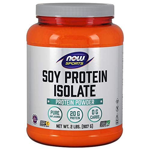 Soy Chocolate Protein - NOW Sports Soy Protein Isolate, Unflavored, 2-Pounds