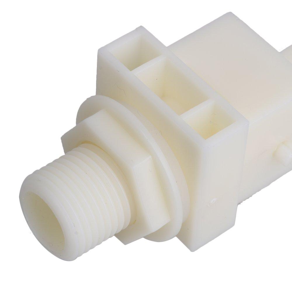 BQLZR blanco DN15 2/Oval 1 válvula flotante de válvula de Control de nivel de agua automático para ganado cuenco bebedero tanque de agua: Amazon.es: ...