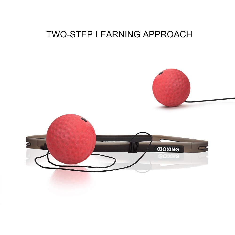 Beweglichkeit perfekt f/ür Gymnastik Boxsport MMA TOCO FREIDO Doppelendball mit Pumpe und 3 Reflexball mit Stirnband Schlaggeschwindigkeit Kampff/ähigkeit und Hand-Augen-Training