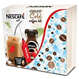 Nescafe Classic Coolest Cold Coffee Kit, Limited Edition - (Mason Jar, Steel Straw, Frother, 2 Fridge Magnets and Coffee, 100 g)
