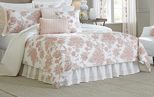 CROSCILL Fiona WC King Comforter Set, Blush, 4 Piece