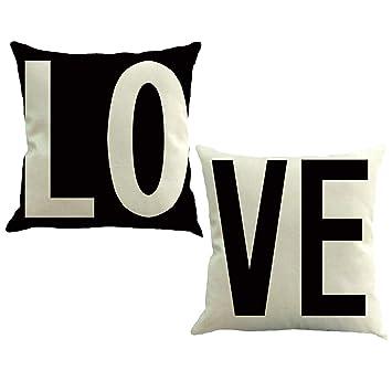 Amazon.com: TASLIFE - Juego de 2 cómodas fundas de almohada ...