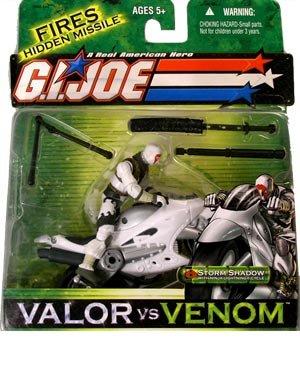 G I Joe Valor vs Venom Storm Shadow w/ Ninja Lightening Cycle - Cobra Ninja Storm Shadow