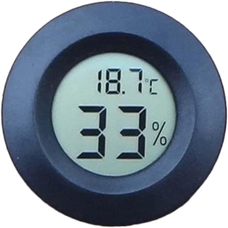 Mini Digital LCD Term/ómetro Higr/ómetro Humedad Temperatura Interior Probador Color al Azar